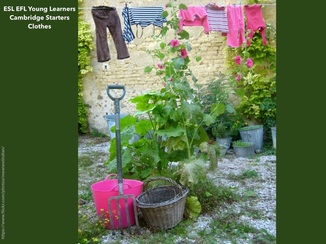 ESL EFL young learners Cambridge Starters - Clothes 1 by Teeny Tiny TEFL