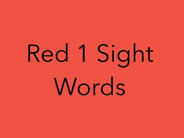 Red 1 Sight Words. No 4 by Sonia Landers