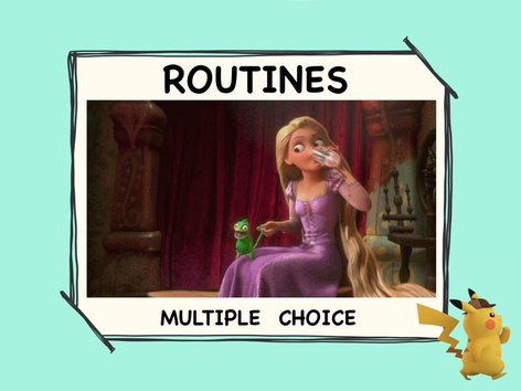 Routines - Multiple Choice  by ShowAnd Text