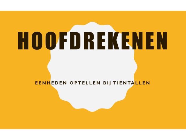 Eenheden Optellen Bij Tientallen by Stefanie Rigolle