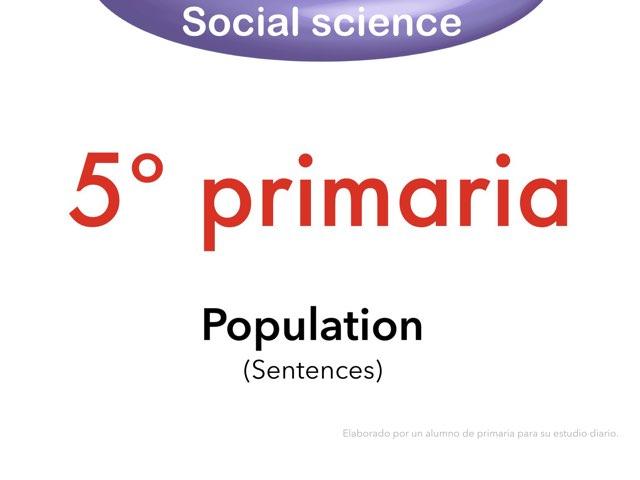 Population Sentences by Elysia Edu