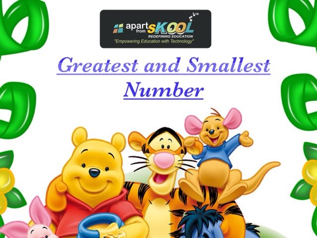 Greatest And Smallest Numbers by TinyTap creator