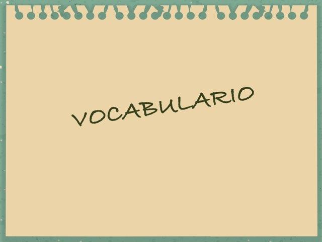 Vocabulario by Asociación Nuevo Horizonte