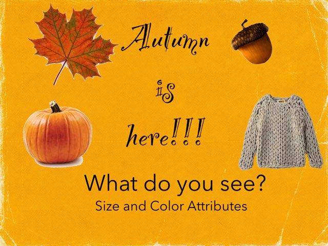 Autumn Is Here!  PECS by Karen Souter