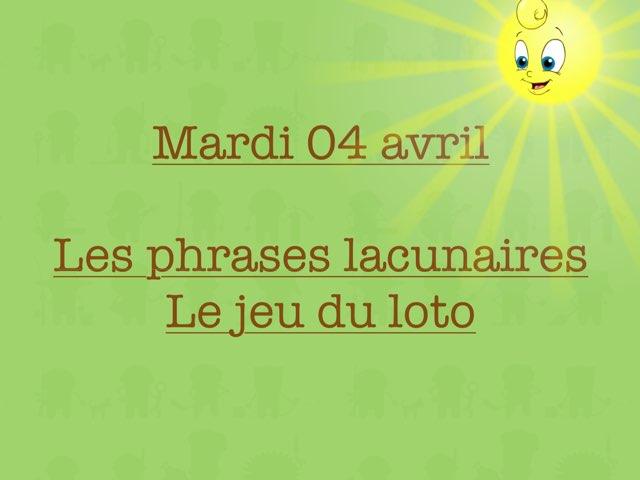 L - Mar04 - Phrases Et Jeu Loto  by Caroline Gozdek