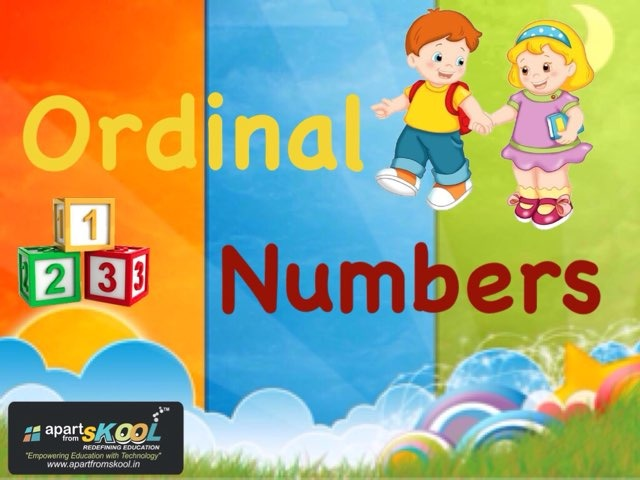 Ordinal Numbers by TinyTap creator