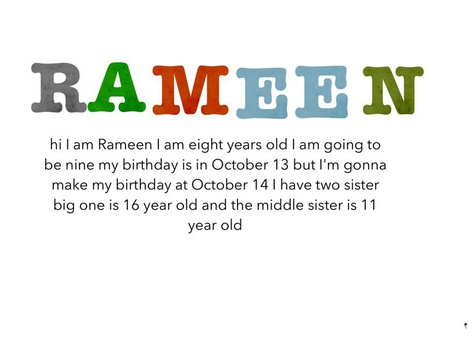 About Myself by Rameen