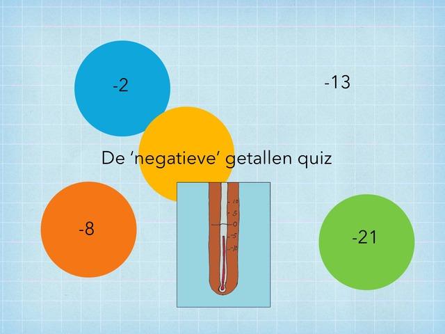 De negatieve getallen quiz Copy  by Erline Behaeghel