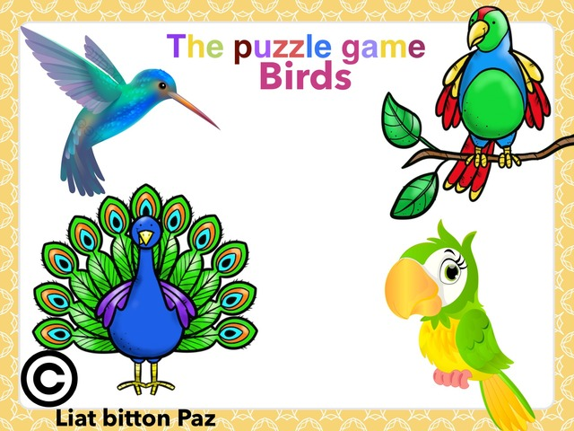 The Puzzle Game Birds  by Liat Bitton-paz
