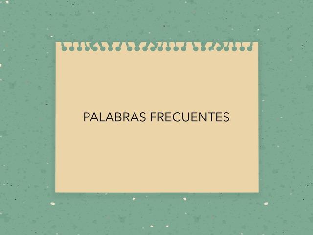 PALABRAS FRECUENTES by LAURA PARDO