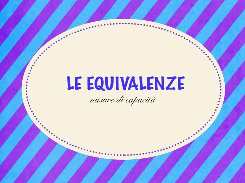 Equivalenze Capacitá by Primaria Interattiva
