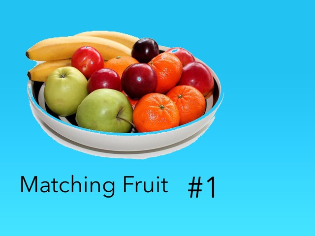 Matching: Fruits #1 by Carol Smith