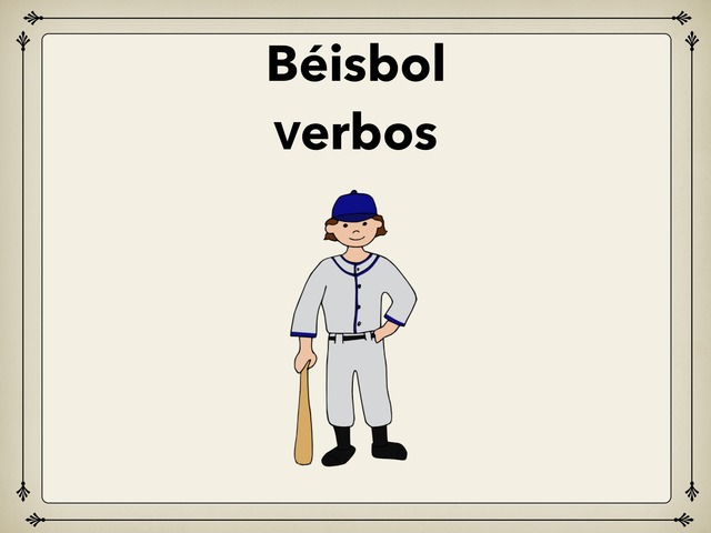 Béisbol Verbos by Rodica Harvey