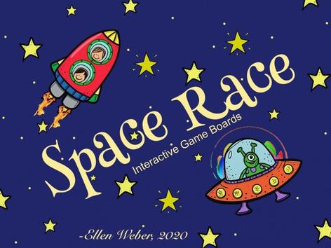 Space Race Game Boards by Ellen Weber