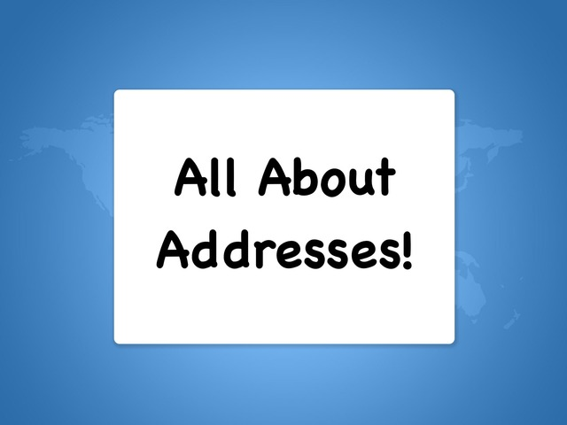 All About Addresses! by Amanda Riker