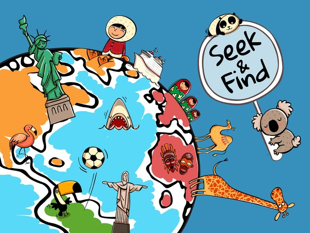 Seek & Find - Around The World by Tiny Tap