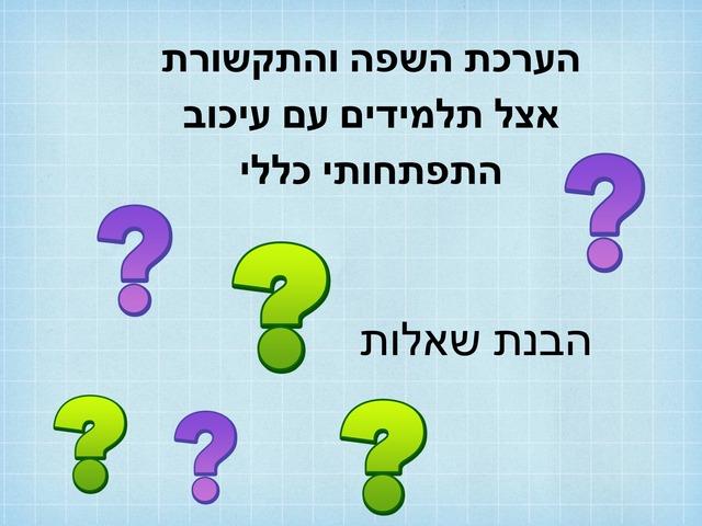 הבנת שאלות by ילנה קרסיק