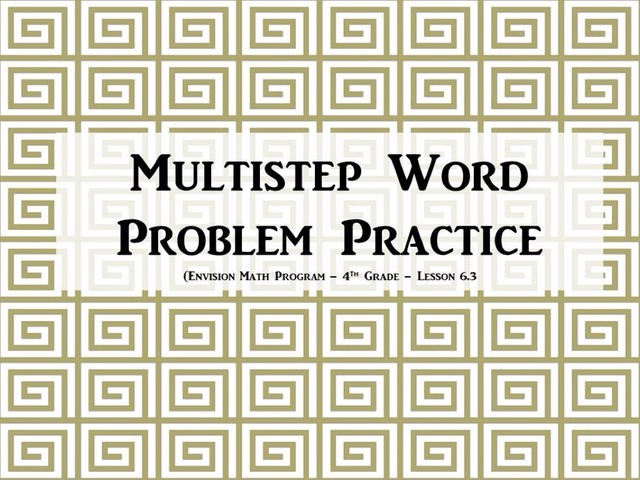Multi-Step Word Problem Practice by Amber Hyde