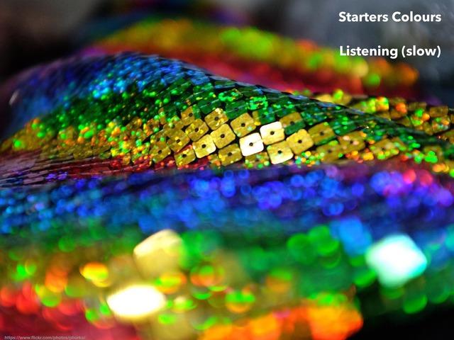esl cambridge starters colours 4 listening SLOW by Teeny Tiny TEFL