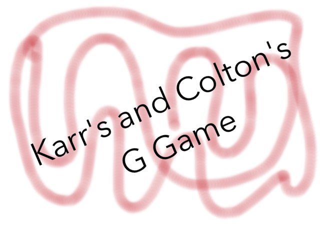 Karr's And Colton's Game by Karen Richtarik