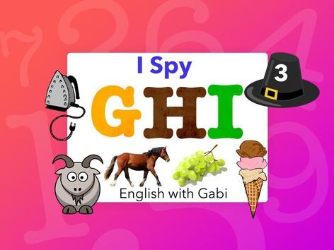 I-Spy 3: GHI Letter Sounds by English with Gabi אנגלית עם גבי