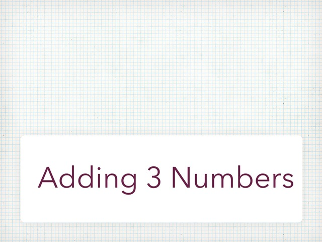 Adding Three Numbers by Fateem Alharthi
