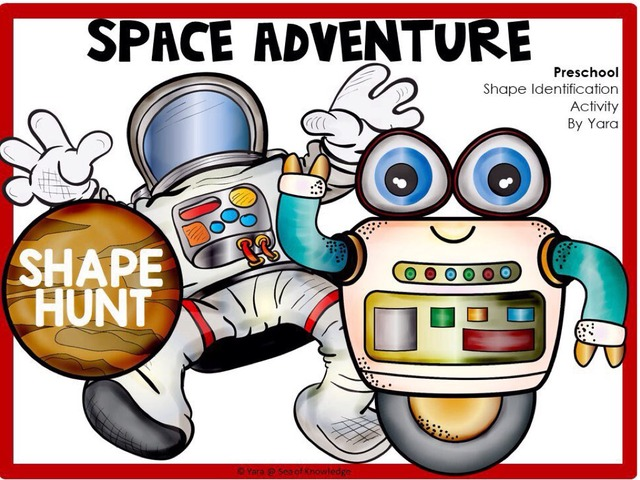 Space Adventure - Identifying Shapes by Yara Habanbou