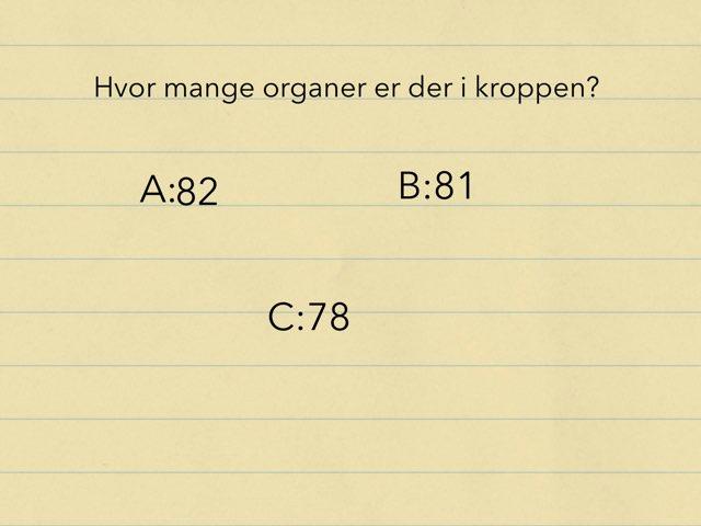 Kroppens Organer -Line by Elev Skibet
