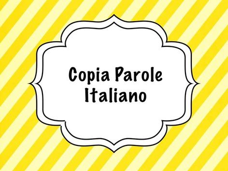 Copia Parole by Monica Failla