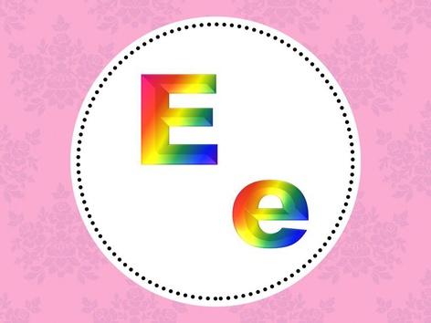 Letter E e by Mariam Al-Failakawy