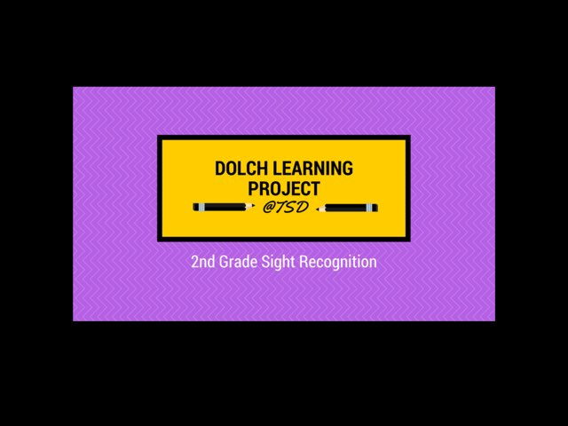 Word ID 1: Dolch 2nd Grade by TSD Library