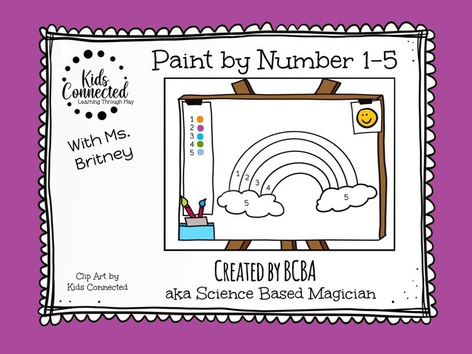 Paint By Number Rainbow 1-5 by Kids  Connected