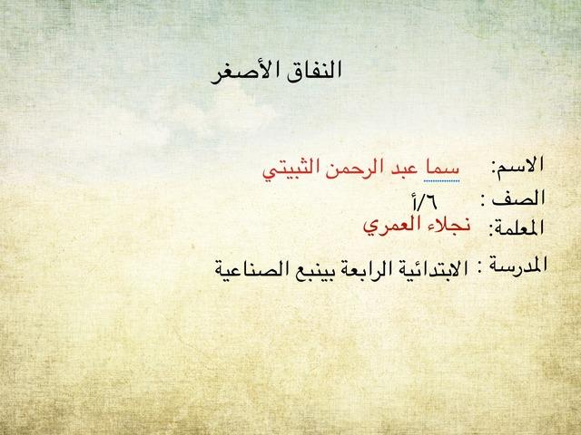 النفاق الأصغر  by نجلاء العمري