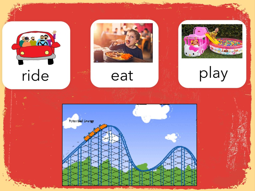 Ride, Eat, or play? by Cindy Derienzo