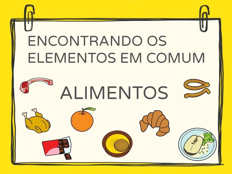 ENCONTRANDO OS ELEMENTOS EM COMUM by Tobrincando Ufrj