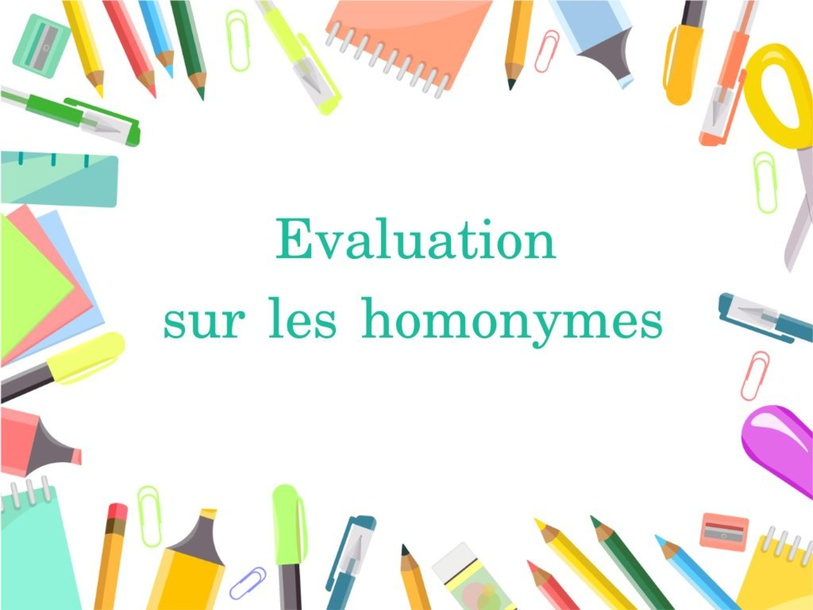 EVALUATION H by Camille Benard