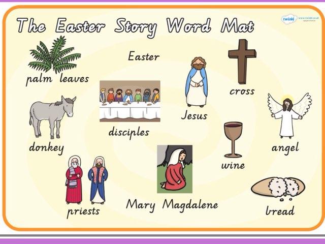 Easter Story Word Match by Deborah Fletcher
