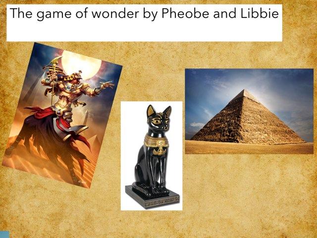 Egypt By Libbie And Pheobe by St Cecilias