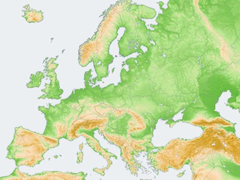 El relieve de Europa  by Jorge Martín Diez