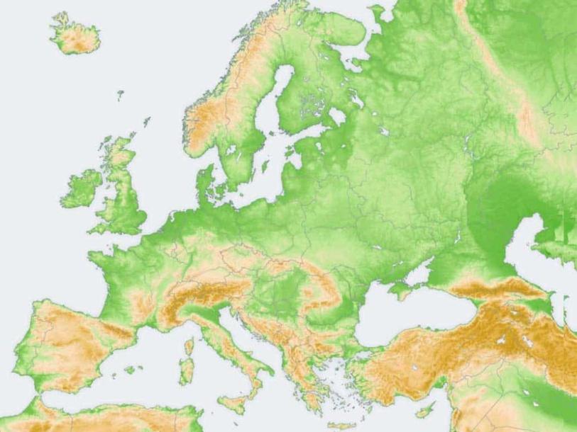 El relieve de Europa by Alejandro Muñoz Serrano