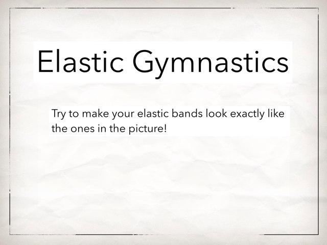 Elastic Gymnastics Fine Motor Game by Danielle Ramus