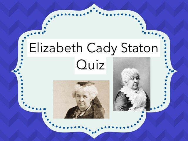 Elizabeth Cady Stanton by Cristina Chesser