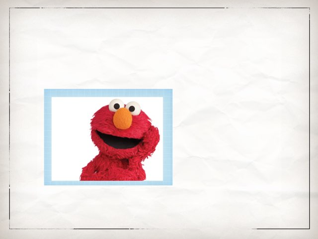 Elmo One Piece Puzzle by Teresa Wildhack