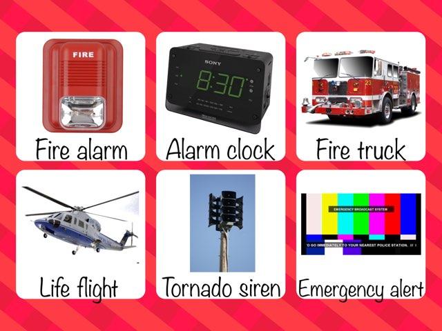 Emergency Sounds Sound Board by Megan Ziolkowski