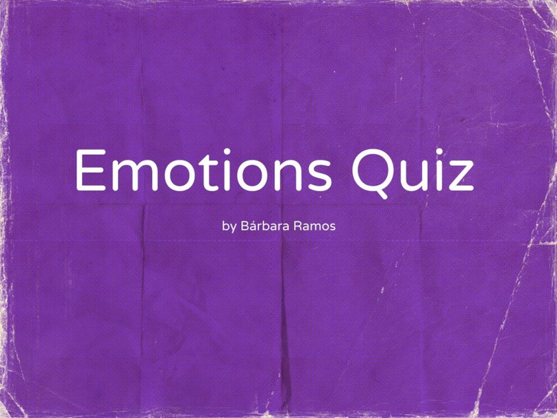 Emotions Quiz - Match the face by Bárbara Ramos Xavier