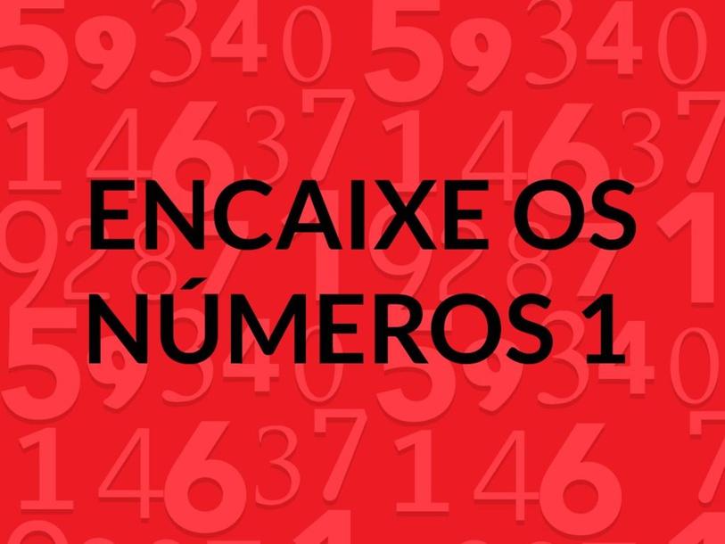 Encaixe os números 1 by Anna Guedes