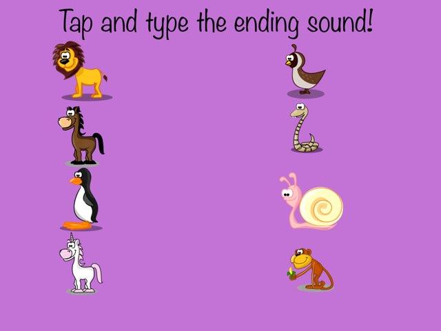 Ending Sounds! by Kristine Davidson