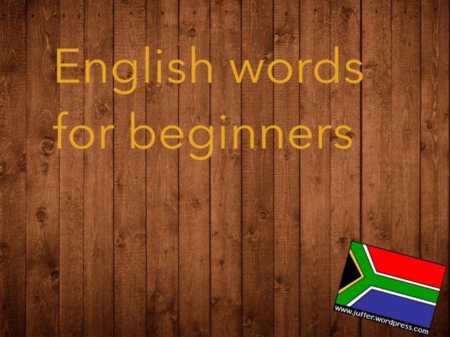 English Word Match-up by Juffer Juffrou
