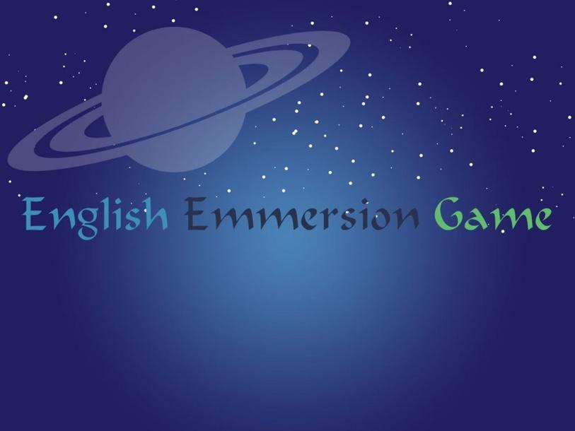 English Emmersion Game by Thais Baumgartner