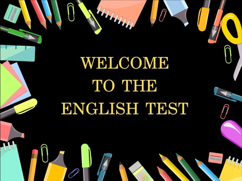 English test by David Chachalo